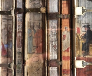 art, books, and brown image