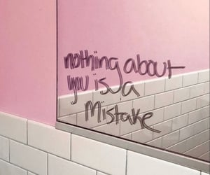mirror, pink, and quote image