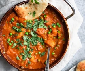 curry, indian food, and pea image