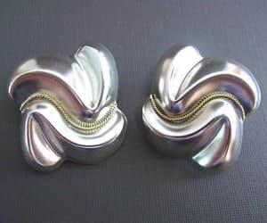 etsy, silver earrings, and renaissance fair image