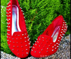 fashiion, red, and slippers image