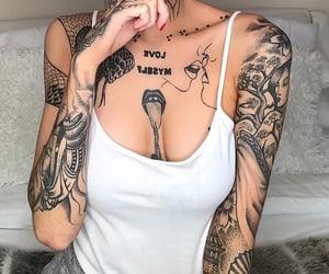 tattoo, tattoo girl, and tattooed somegram image