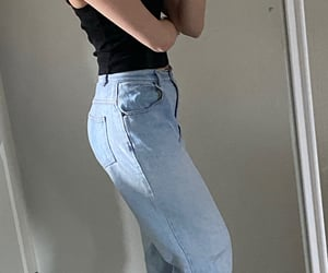 jeans, top, and outfit image