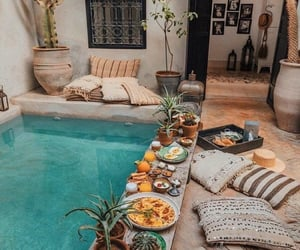 pool, food, and home image