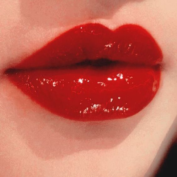 red, lips, and beauty image