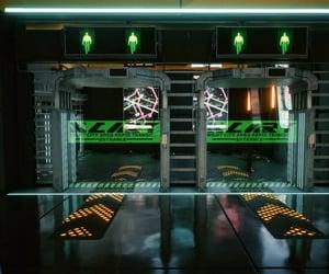 cyber, public, and sci-fi image