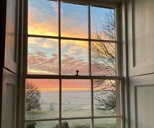 sky, window, and nature image