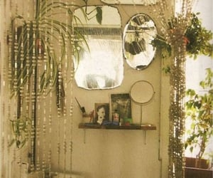 bathroom, mirror, and plants image