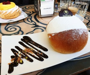 brioche, pastry, and sweet image