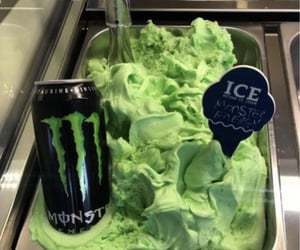 green, ice cream, and sugar image
