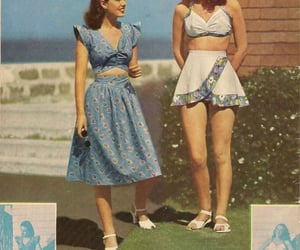 1940s, 1950s, and beach image