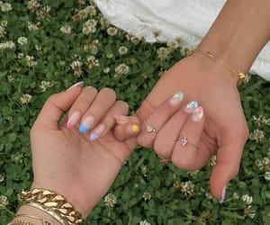 aesthetic, nail nails nailart, and beautiful love glam image