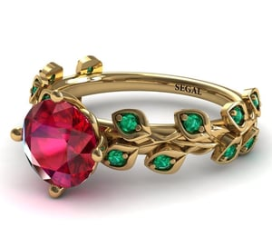 jewelry, wedding ring, and ruby ring image
