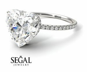 diamond ring, engagement, and white gold image