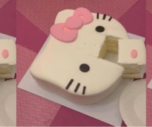 cake, food, and hello kitty image