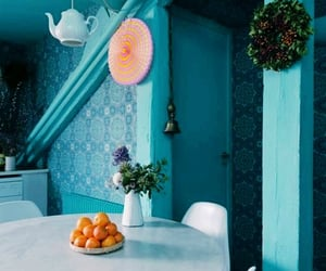 blue, decorating, and turquoise image