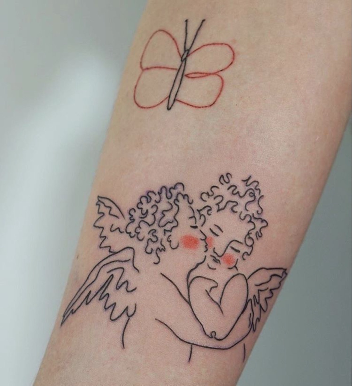 angel, butterfly, and tattoo image