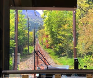 japan, train, and view image