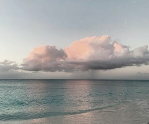 clouds, sky, and beach image