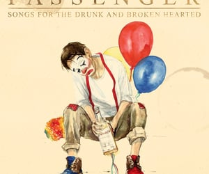album cover, clown, and drawing image