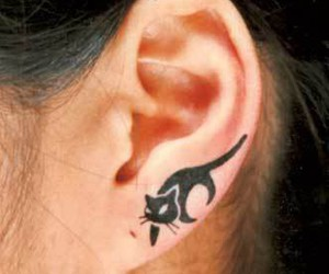 tattoo, cat, and ear image
