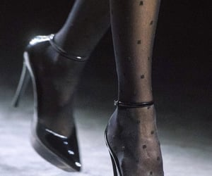 black, catwalk, and shoes image