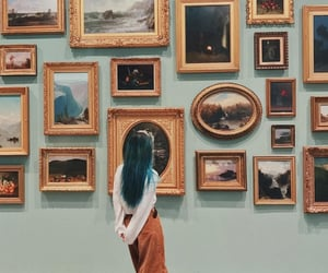 aesthetic, art, and art gallery image