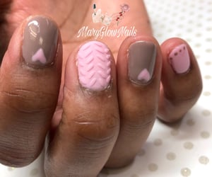hearts, manicure, and nails image