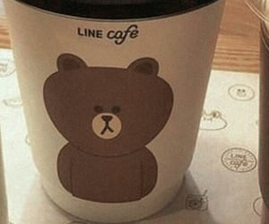 bear, covers, and line cafe image