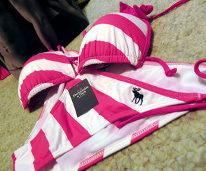 bikini, pink, and abercrombie image