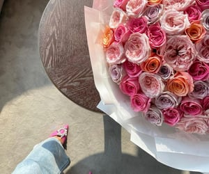 flowers, heels, and rose image