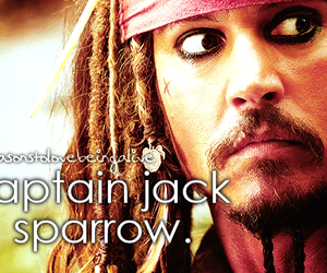 captain jack sparrow, johnny depp, and me image