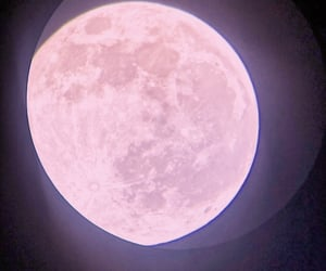 aesthetics, moon, and pink moon image