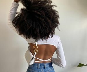 Afro, curly hair, and fashion image