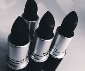 lipstick, aesthetic, and black image
