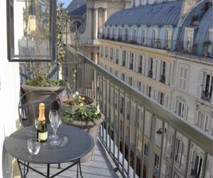 paris, city, and balcony image