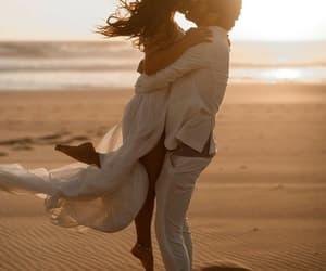 beach, couple, and romantic image