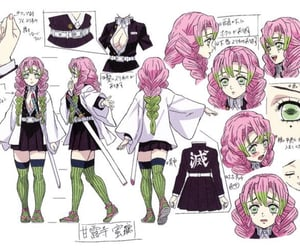 anime girl, love pillar, and love hashira image