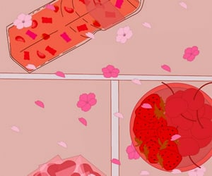 cherry, cherryblossom, and strawberry image