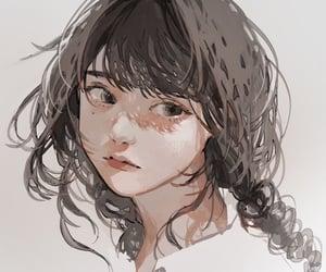 art, cartoon, and girl image