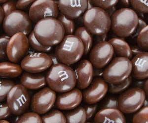 m&ms, brown, and candy image