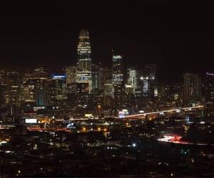 city lights, sick, and night image