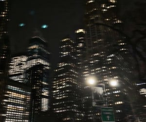 blurry, city lights, and new york image