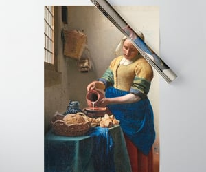 wrapping paper, the milkmaid, and vermeer art image