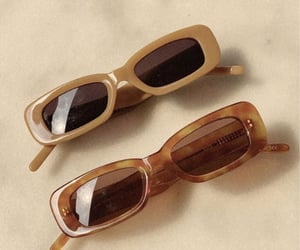 aesthetic, brown, and glasses image