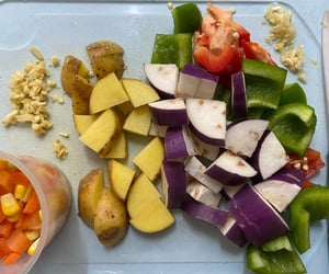 corn, eggplant, and food image