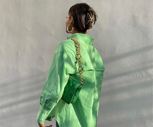 clothes, green, and look image