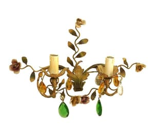 etsy, candle sconce, and crystal chandelier image