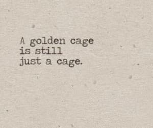 quotes, words, and cage image