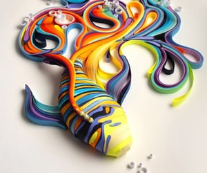 art, paper art, and paper sculpture image